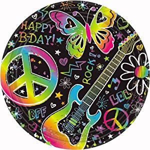 Get Quotations · Amscan Groovy Neon Doodle Birthday Party Dessert Paper Plates Disposable Tableware (8 Pack)  sc 1 st  Alibaba & Cheap Neon Paper Plates find Neon Paper Plates deals on line at ...