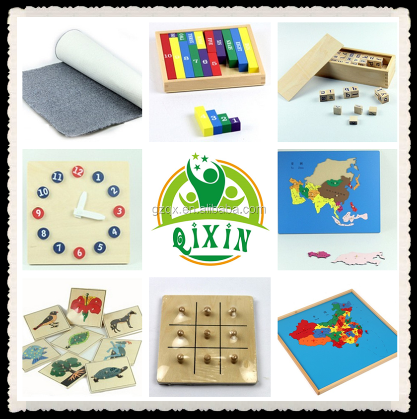 Early childhood education montessori materials(QX-177A)/montessori arabic material/chinese montessori materials