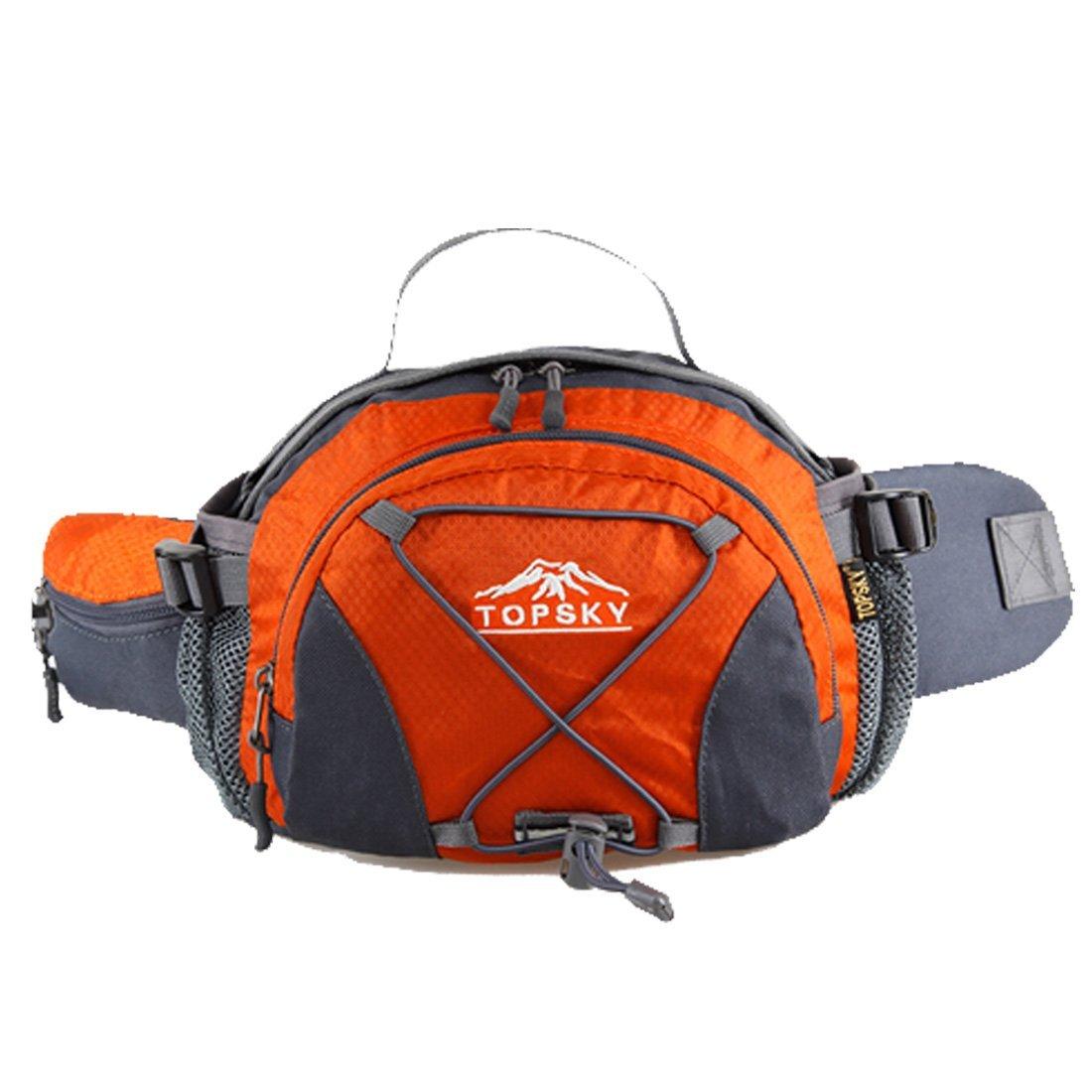 Topsky Outdoor Sports Running Water Bottle Pockets Waterproof Riding Cycling Waist Pouch Backpack 8L Waist Bum Belt Bag Unisex Trekking Rucksack
