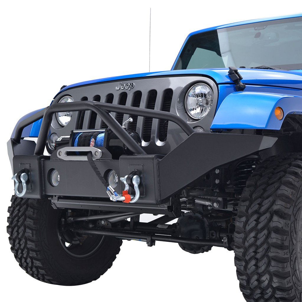 9d5b4666a8 Get Quotations · E-Autogrilles 07-17 Jeep Wrangler JK Full Width Front  Bumper with OE Fog