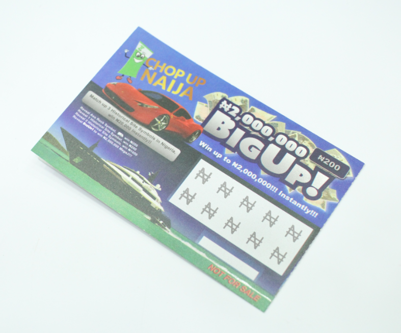 Paper Scratch Cards Lottery Scratch Tickets