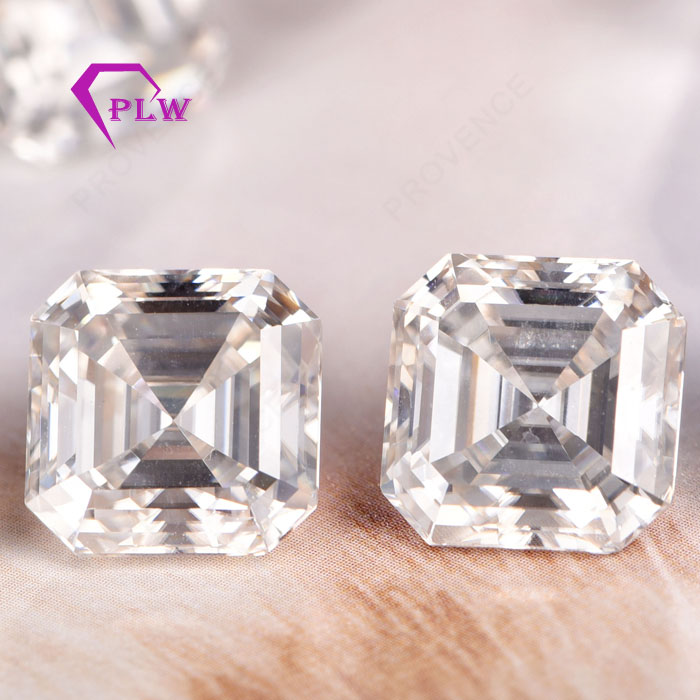 Asscher Cut D E F Moissanite Forever One