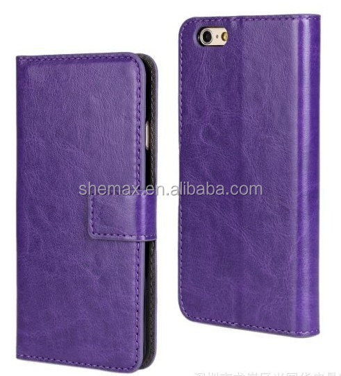 2015 Crazy horse flip leather cover case for sony xperia T2 ultra