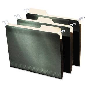 IDEASTREAM CONSUMER PRODUCTS FT07033 Hanging File Folders with Innovative Top Rail, Letter, Green, 20/Pack