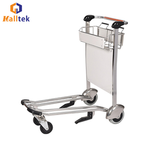 4f8d99774894 Low Price 4 Wheels Airport Luggage Baggage Trolley Hotel Cart Suppliers
