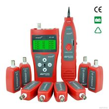 Network coax cable tester NF-388 Red Handheld Cable Tester Network cable LAN Ethernet Wire tester Telephone cable  Tester