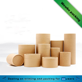 Eco friendly custom handmade paper tube packaging kraft for Kraft paper craft tubes