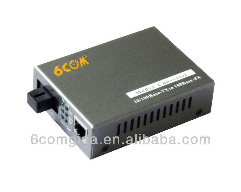 2 rj45 port single mode 10/100M fiber media convertor