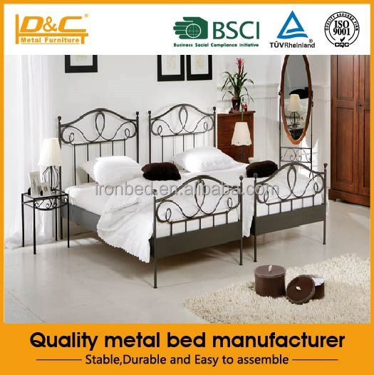High quality metal bed iron single bed kids metal bed hot selling modern furniture bedroom