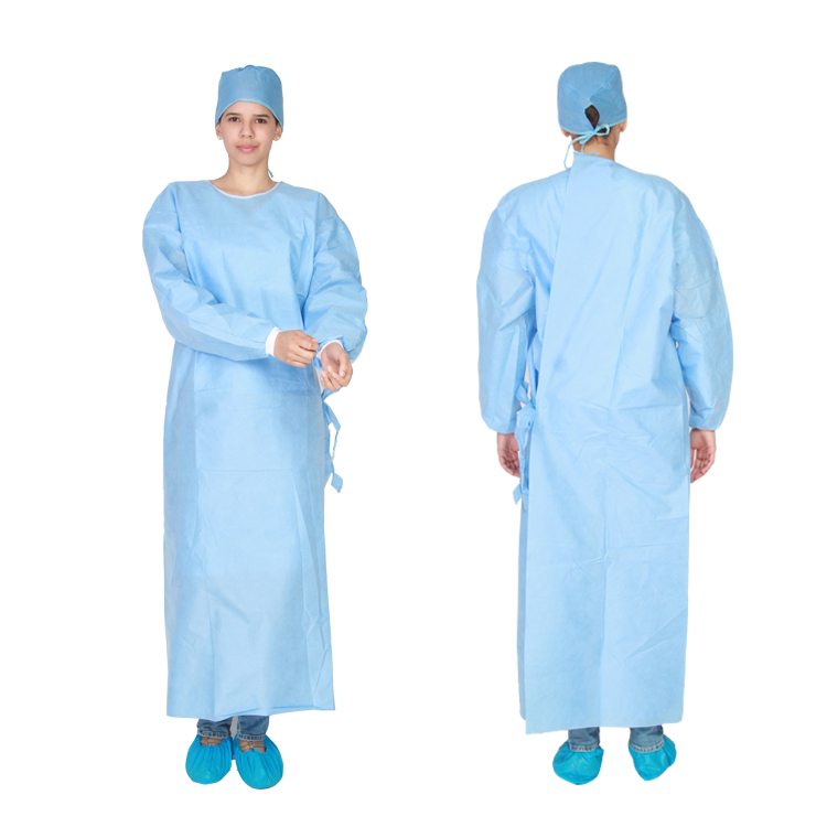 Hubei Disposable Sms Sterile Surgical Gown With Knitted Cuff For ...