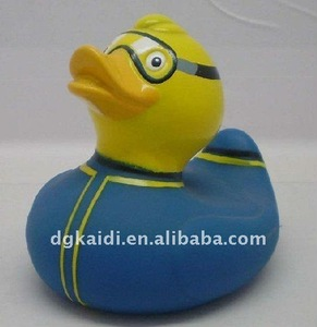 Best selling fashionable OEM promotional gift 3d cartoon animal duck bath toy