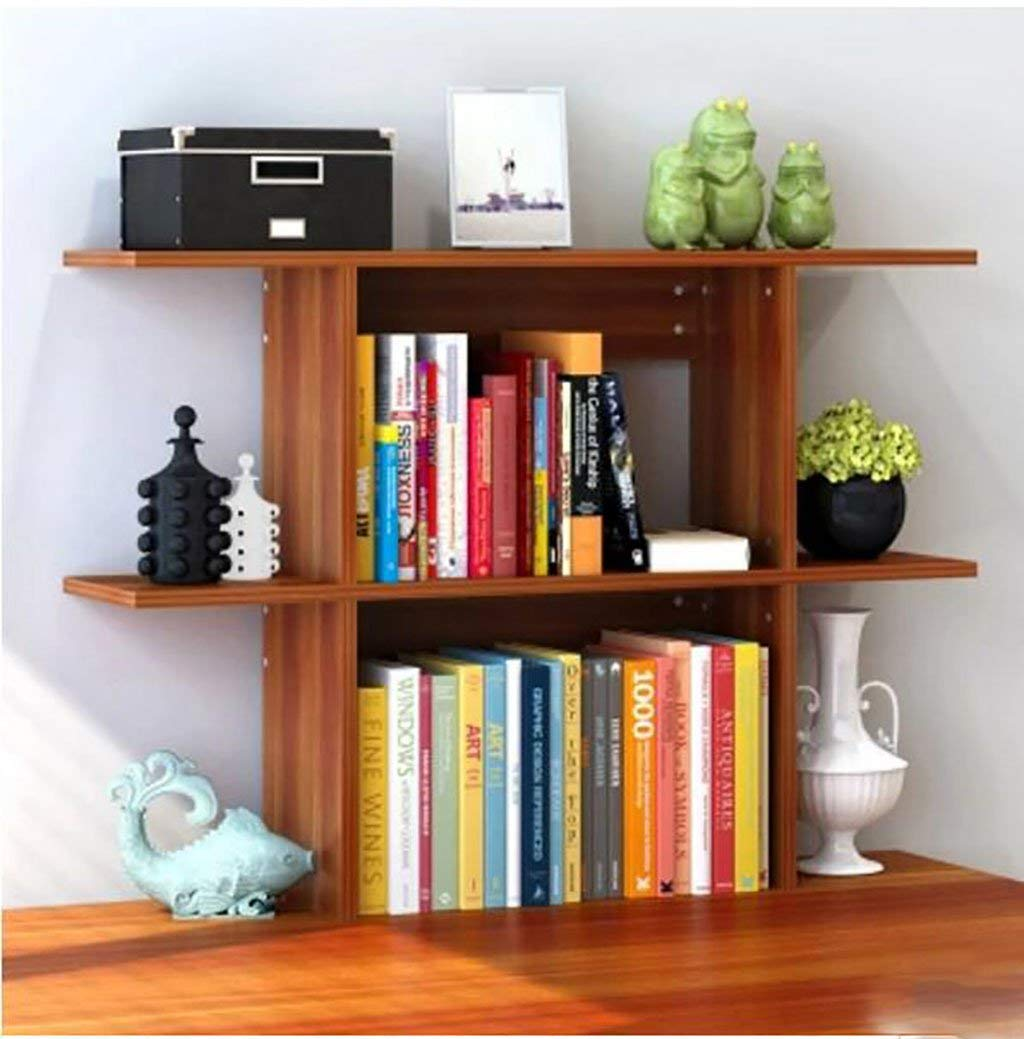 WERT wall bookshelves Simple Desktop Shelf Creative Bookshelf On The Table Shelf Simple Modern Desk Incorporated Small Bookshelves flower shelves (Size : L110cmh63cm)