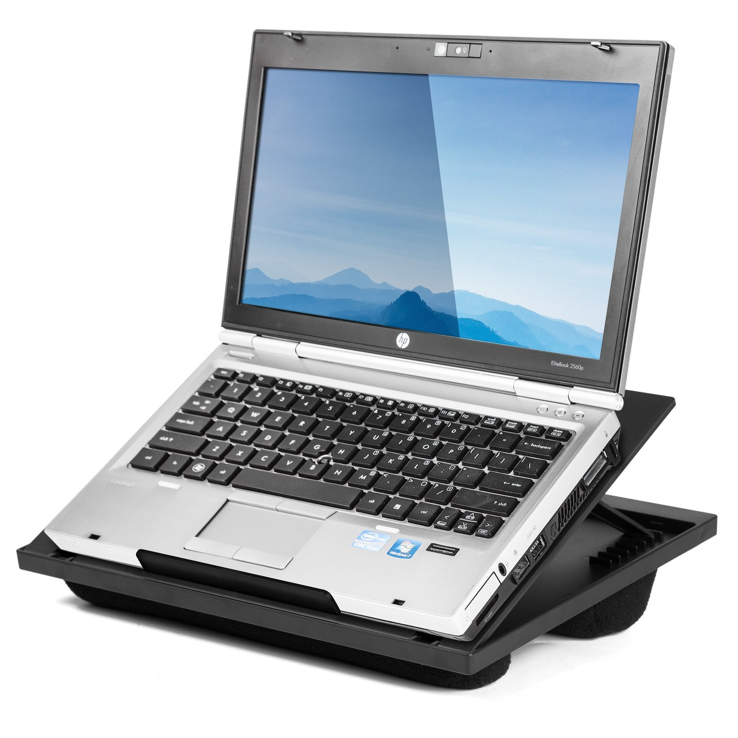 Halter Lap Desk Laptop Stand with 8 Adjustable Angles and Dual Microbead Bolster Cushions