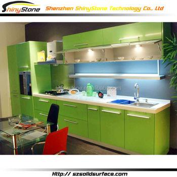 Elegante E Moderno Colore Verde Armadio Da Cucina Moderno Design ...