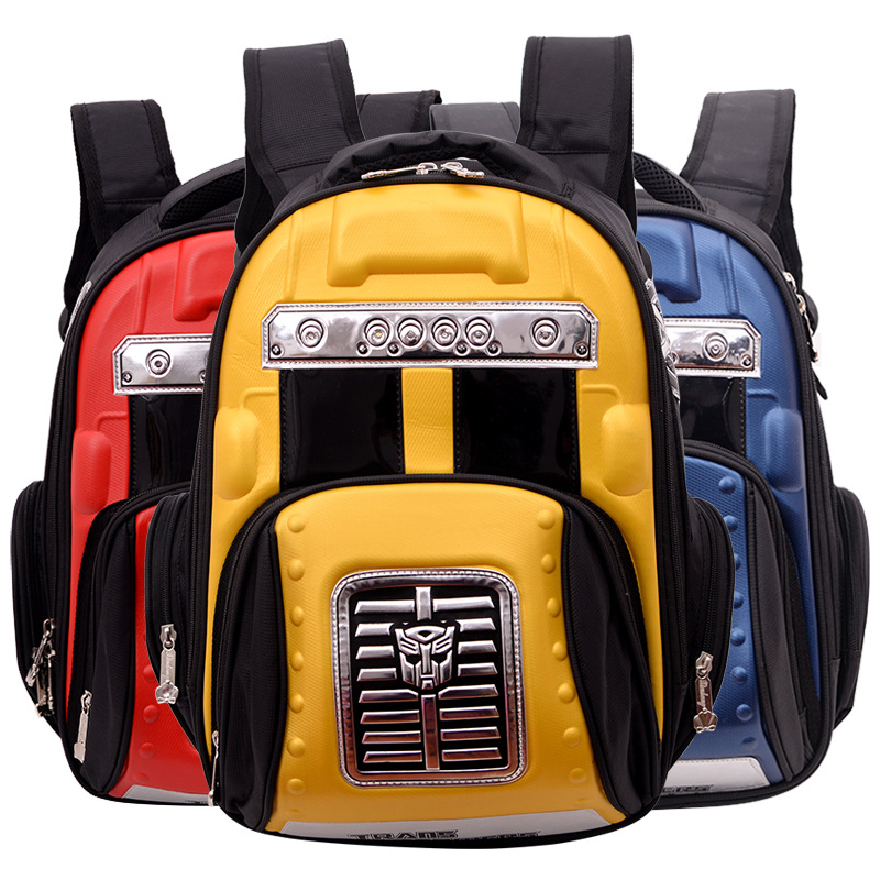 New hard shell 3D luminous car models 2-5 grade children's <strong>school</strong> bag primary <strong>school</strong> boy's backpack