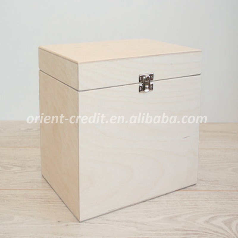Wooden Box for DIY Projects/ Unfinished Wooden Box 9.25 x 6.7 x 6.7 inch
