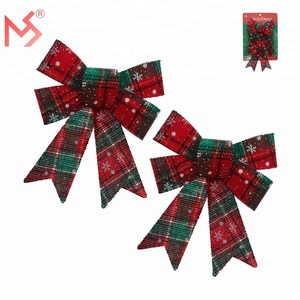 New Christmas party decoration set bowknot for wholesale