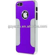 luxury brushed aluminum cover case for iphone 5, for custom iphone 5 case, for custom iphone cover