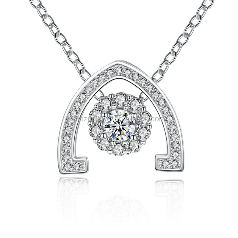 New Women's Jewelry 100% 925 Sterling Silver Sunshine Clear CZ Pendant Necklace