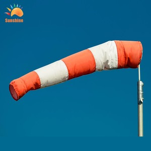Good Price Custom Wholesale Windsock Flags wind flag red and white windsocks 100% polyester