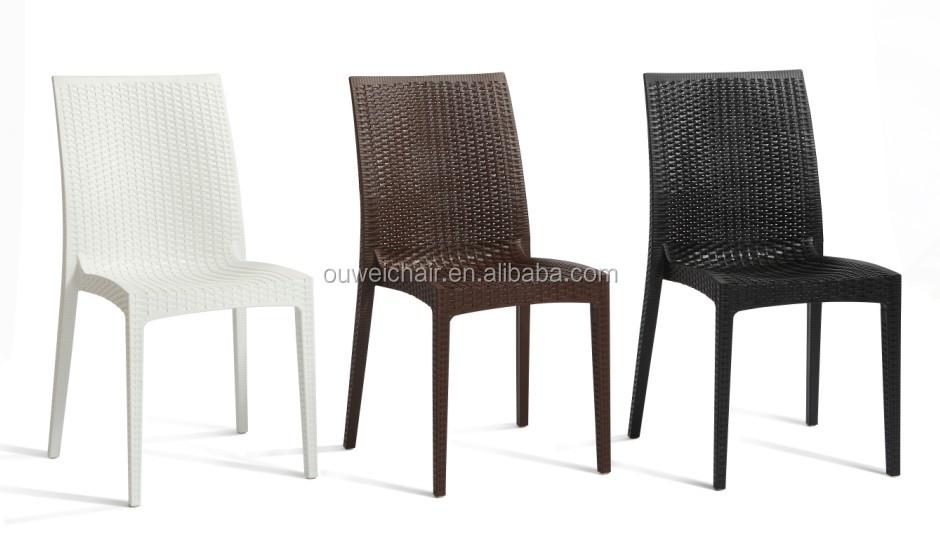 Eleganti arredi per esterni in rattan sedia di plastica - Mobili in plastica per esterni ...