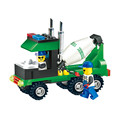 Coll New Arrival 4 Kinds Of Engineering Vehicles Building Blocks Toy Truck Mixer Bulldozer Roller Construction