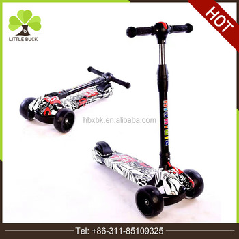 Ce Approved Kids Kick Scooter Pu Color Wheel Scooter Children Age