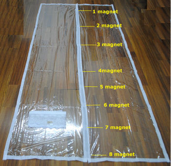 Wind Proof Eva Door Curtain Eva Diy Magnetic Door Screen