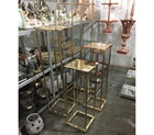 Glamorous Tall Gold Metal Elegant Display Plinth Centerpiece Stand
