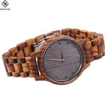 2018 SOPEWOD brand high quality fashion man women custom logo wholesale wooden bamboo bamboo quartz wrist watch