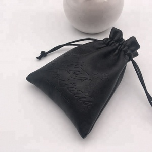 Custom Embossed PU Leather Pouch For Jewelry