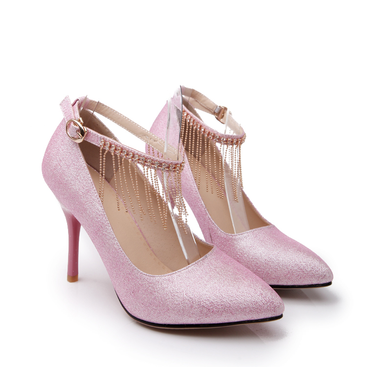 c797ab423 Buy ARMOIRE 2015 Hot New Sexy Women Nude Pumps Black Pink Blue Ladies  Wedding Shoes High Heels Bling-bling Tassel ARX95-28 in Cheap Price on  m.alibaba.com