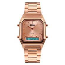 SKMEI 1220, винтажные Аналоговые кварцевые наручные часы с квадратным циферблатом, Мужские водонепроницаемые часы для украшения ручной работы, ...(Китай)