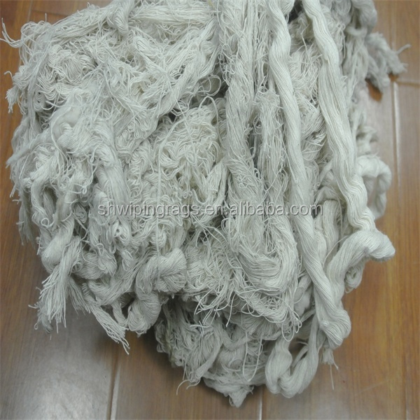 Recycled cotton yarn waste