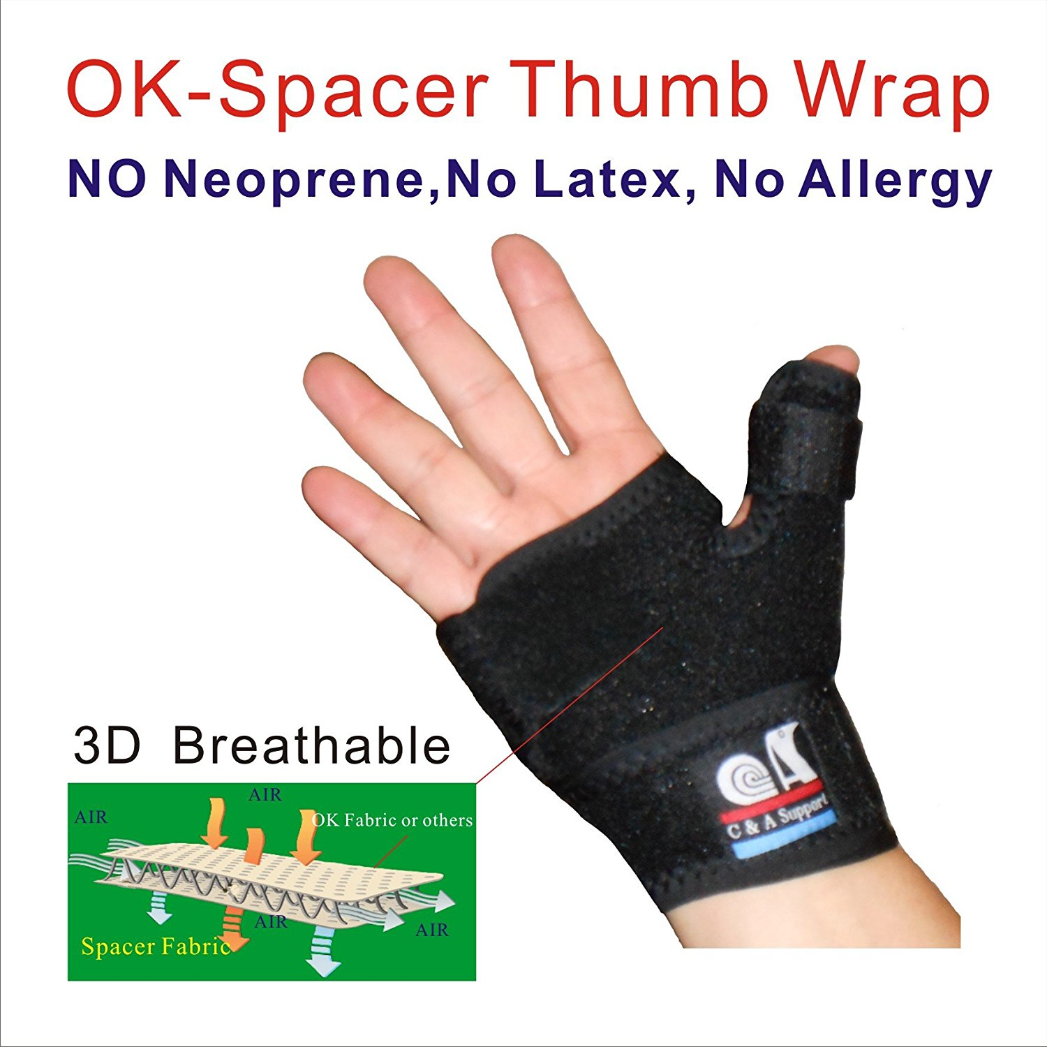 TB-OS-36,3D Breathable Patented Fabric Reversible Thumb & Palm Stabilizer, Brace Splint, for Arthritis, Pain,Sprains,Strains, Trigger Thumb Immobilizer, BlackBerry Thumb, Mommy Thumb