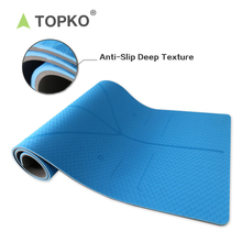 China Supplier New Product Printed Anti-slip Eco Friendly Fitness TPE Yoga Mat