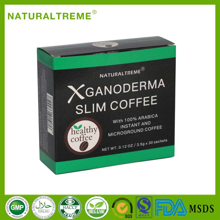 First choise Coffee GANODERMA Slim Coffee with 100% Arabica instant and microground Coffee