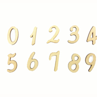 High quality hot sale folk art wooden craft decorative Arabic numbers craft shape