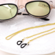 Fashion Zinc Alloy Metal Rope Lanyard Glasses Accessories Antiskid Hollow Eye Chain Glasses With Lobster Clasps