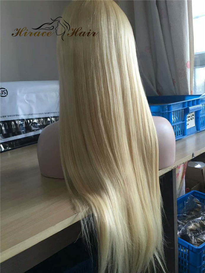 long blonde human hair wig brazilian hair wig 613 Full Lace Wig