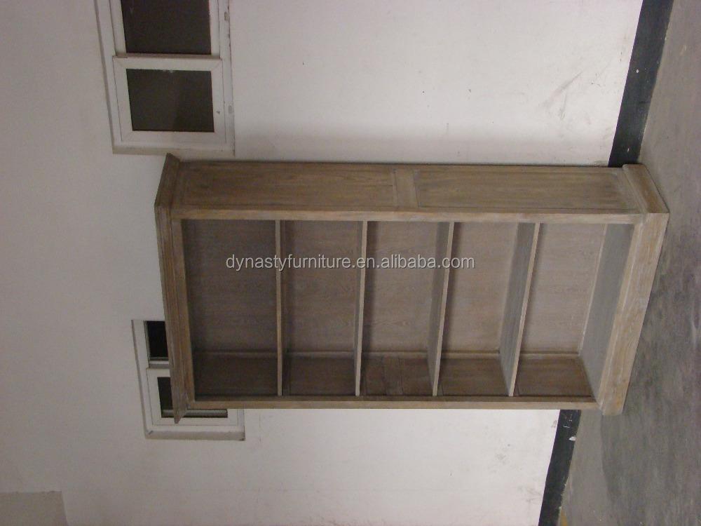 Antiguo Olmo recuperado pared de madera estante de exhibición de ...