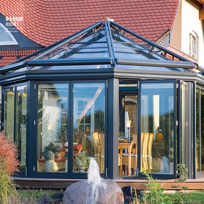 benutzerdefinierte garten glas h user aluminium profil glas wintergarten sonnenraum und glashaus. Black Bedroom Furniture Sets. Home Design Ideas