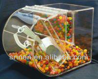 acrylic candy bin with scoop