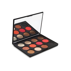 China Cosmetics Vendors 12 Romantic Color Create Your Own Brand Eyeshadow Palette
