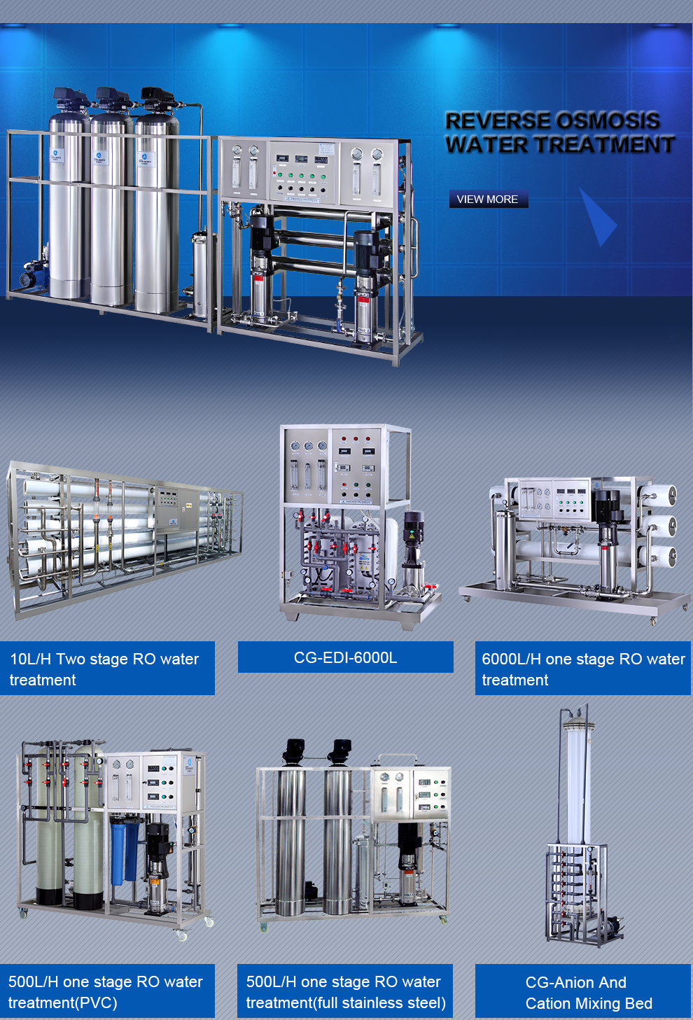 Ro water system and reverse osmosis pure water equipment