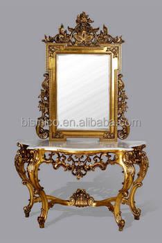 Colore Oro Antico Stile Luigi Consolle Con Specchio,Consolle ...