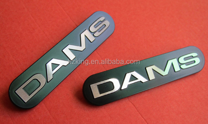 Customized Made Adhesive Metal brand logo