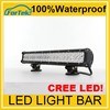 led 12v spotlight car waterproof IP67 4x4 atv led light bar 126W