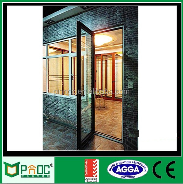 Aluminum Frame Glass Swing Door,Double Swing Glass Door,Casement ...