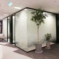 Tecture Full height frameless tempered glass partition decorative glass wall for modern offices design